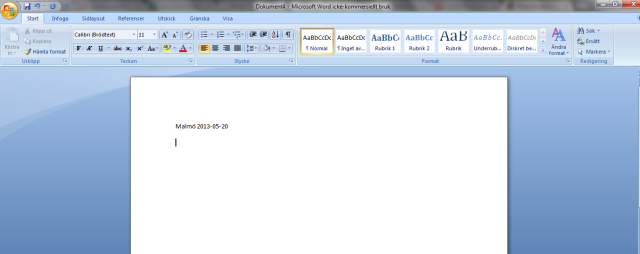 Empty word document