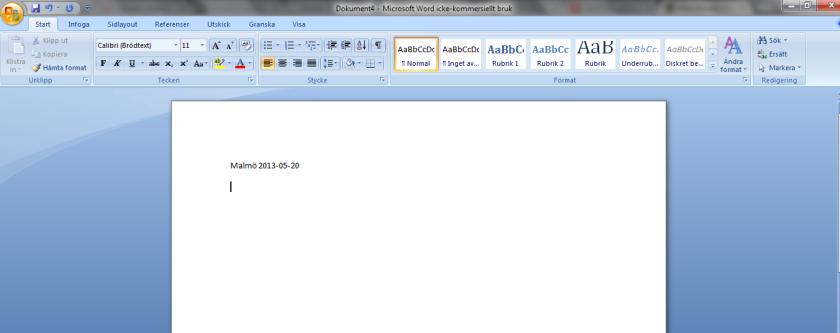 Empty word document