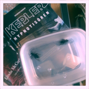 Book and crickets